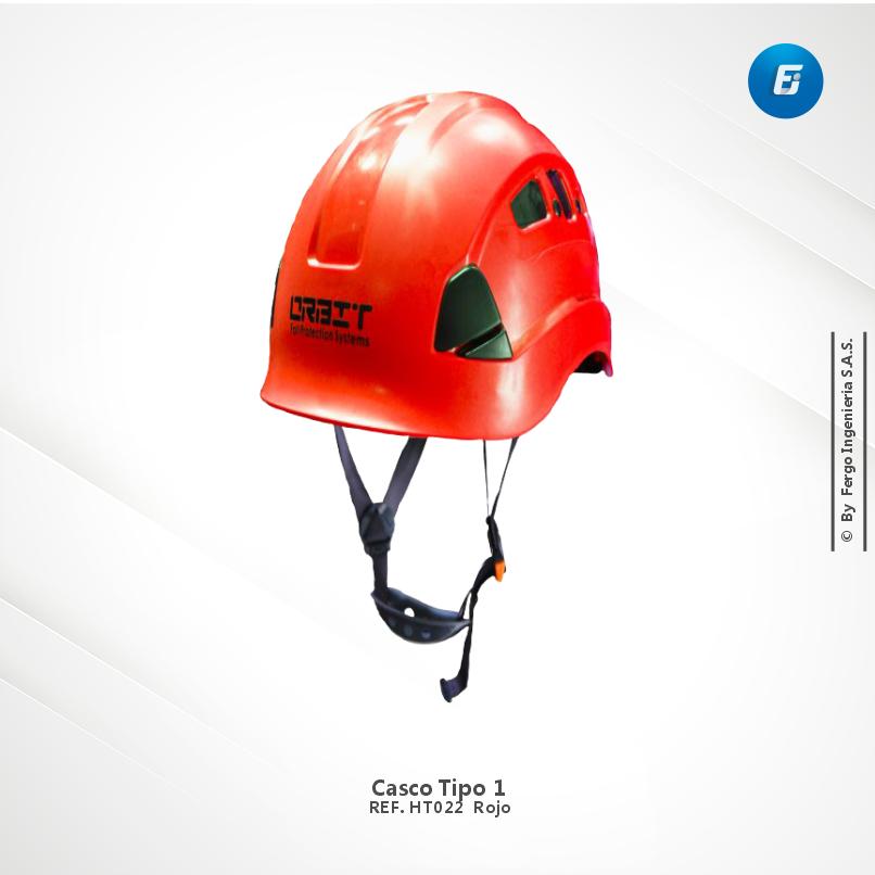 Casco  Tipo 1 Ref.HT022 Rojo
