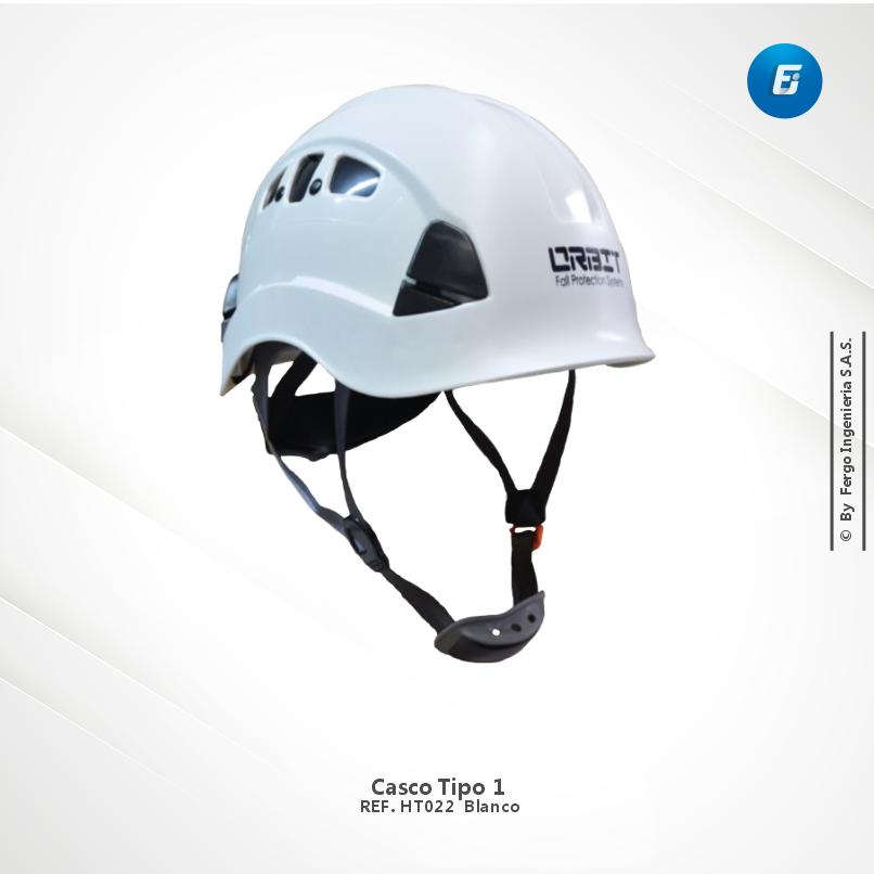 Casco Tipo 1 Ref. HT022 Blanco