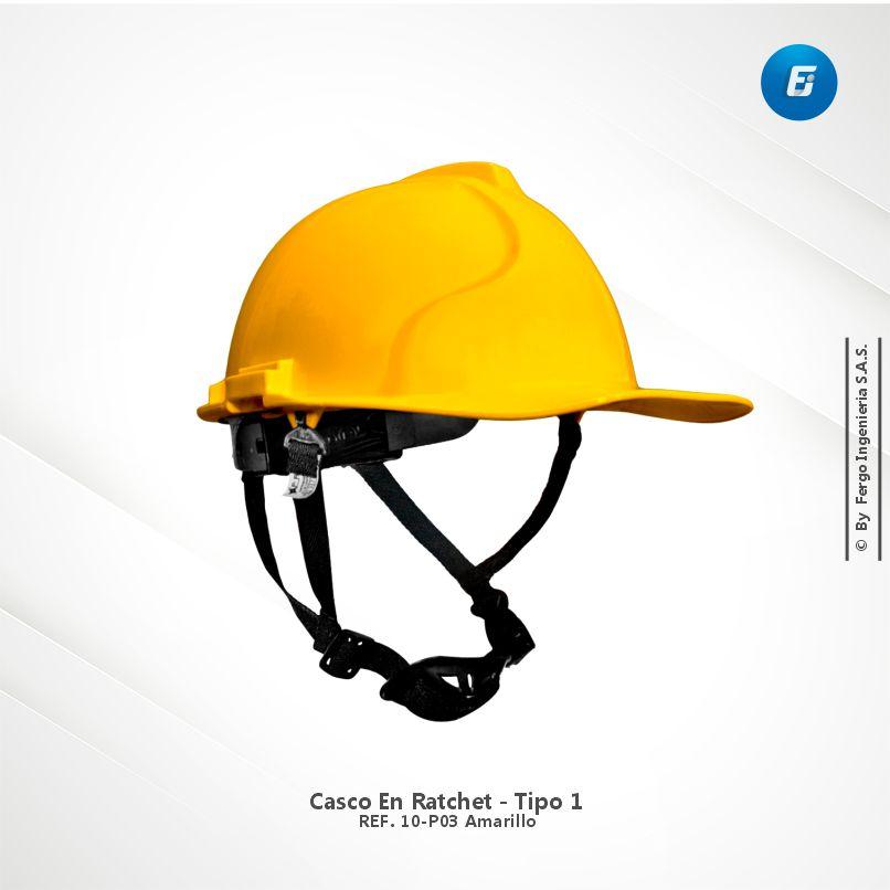 Casco en Ratchet Ref.10-P03 Amarillo