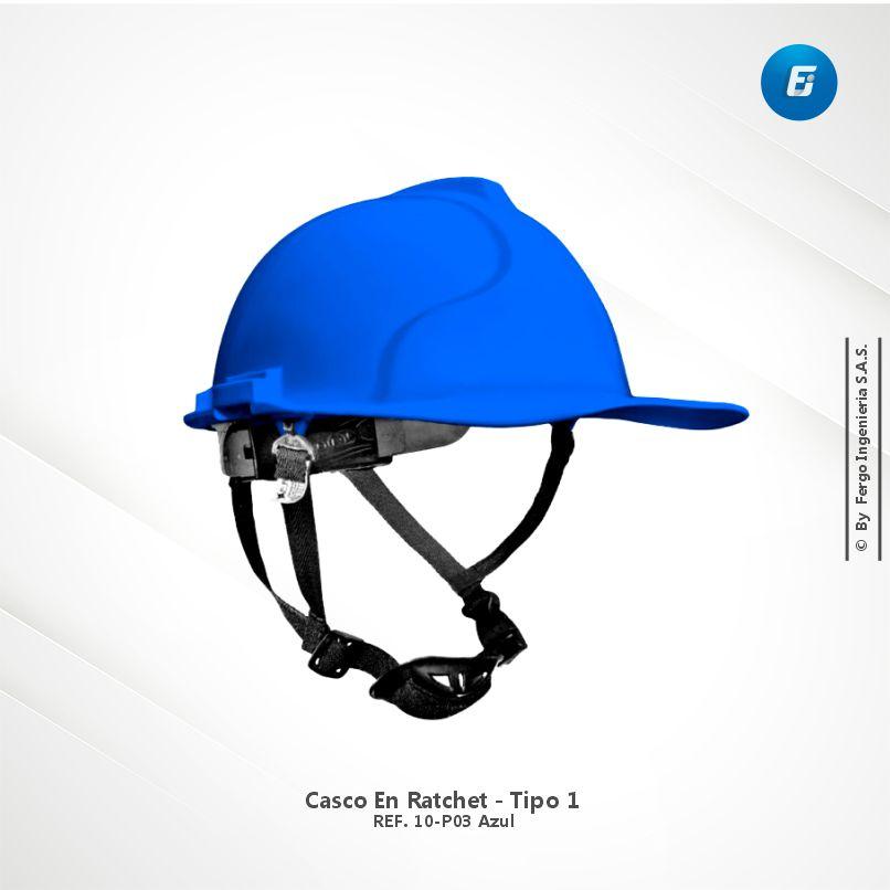Casco en Ratchet Ref.10-P03 Azul