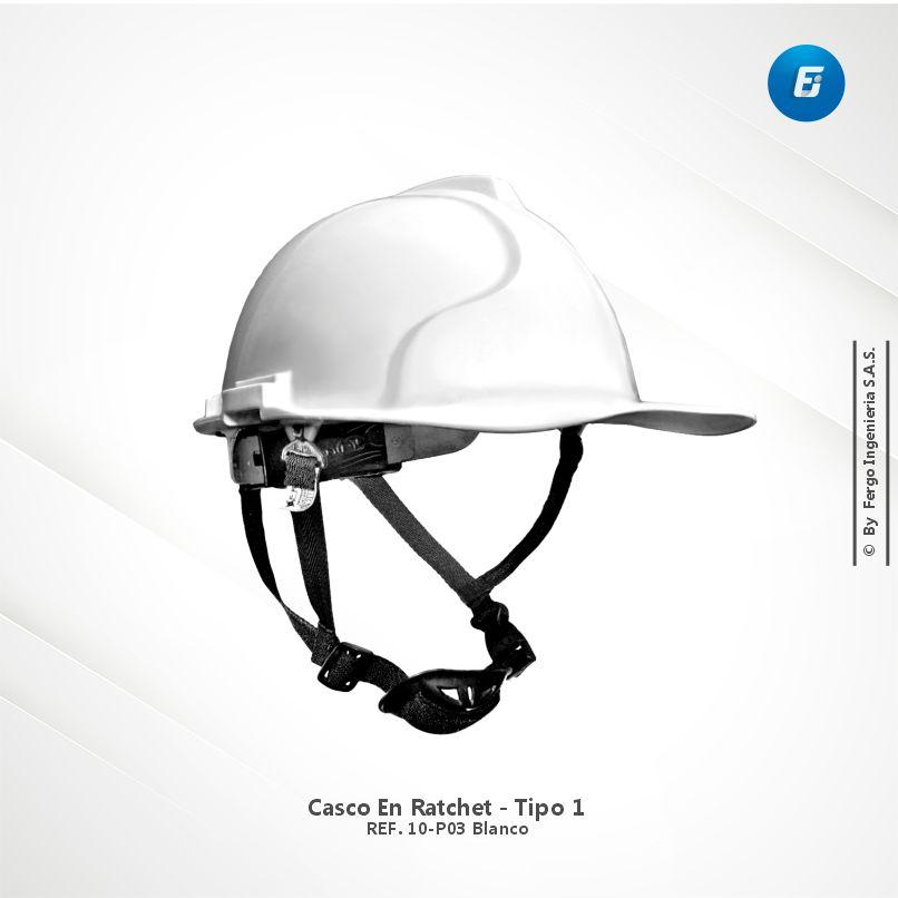 Casco en Ratchet Ref.10-P03 Blanco