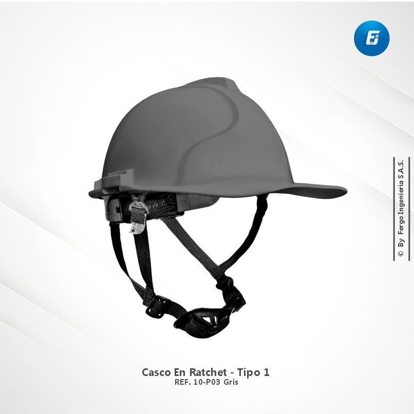 Casco en Ratchet Ref.10-P03 Gris