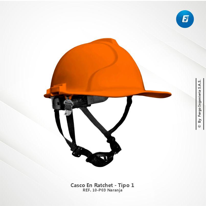 Casco en Ratchet Ref.10-P03 Naranja