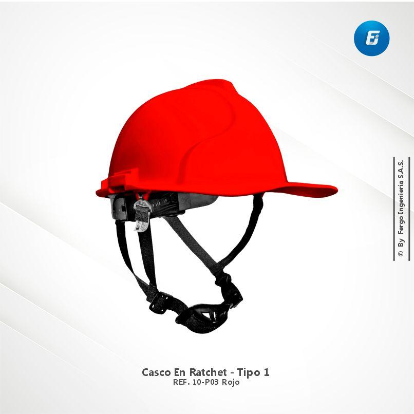 Casco en Ratchet Ref.10-P03 Rojo