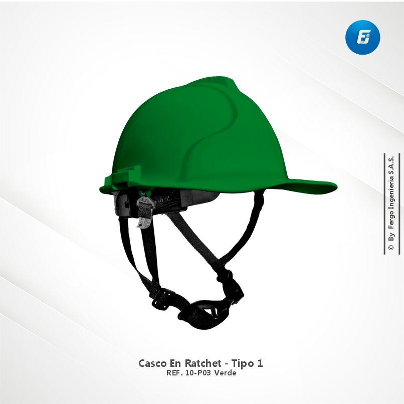 Casco en Ratchet Ref.10-P03 Verde