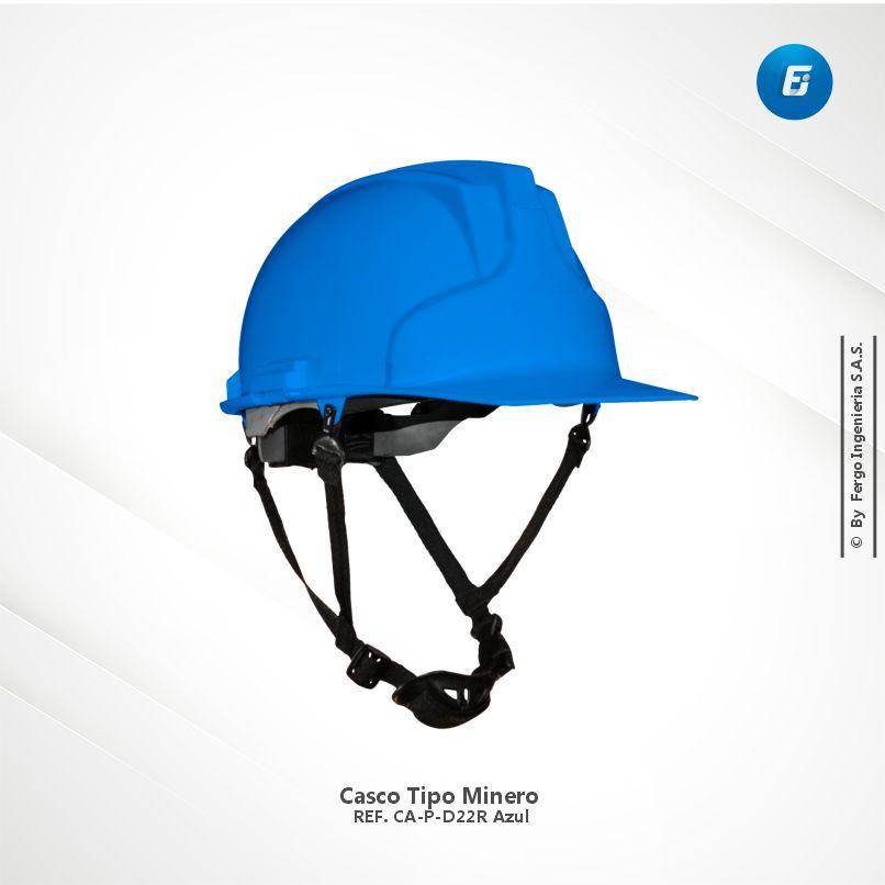 Casco Tipo Minero Ref.CA-P-D22R Azul