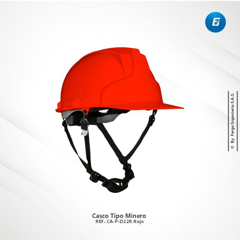 Casco Tipo Minero Ref.CA-P-D22R Rojo