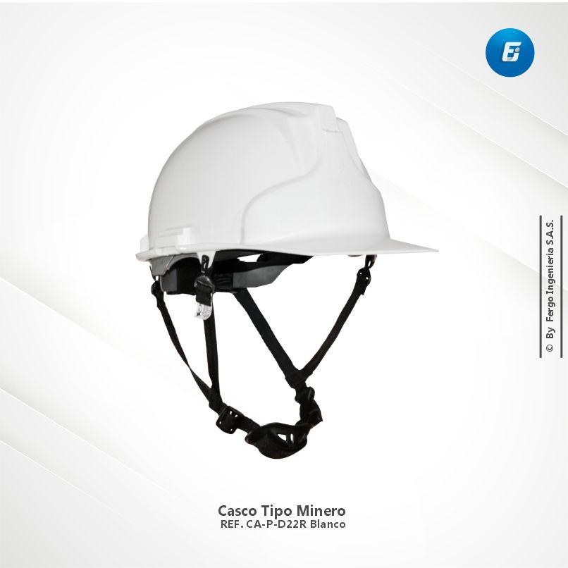 Casco Tipo Minero Ref.CA-P-D22R Blanco