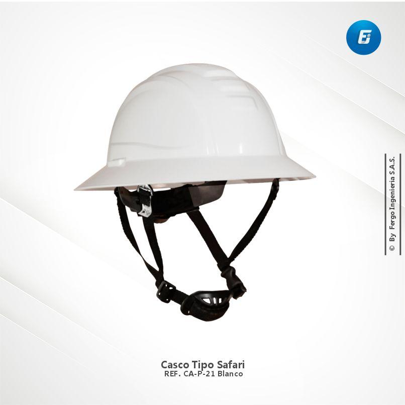 Casco Tipo Safari Ref.CA-P-D21 Blanco