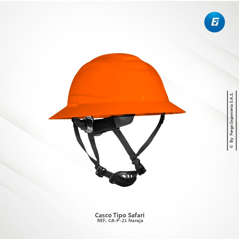 Casco Tipo Safari Ref.CA-P-D21 Naranja