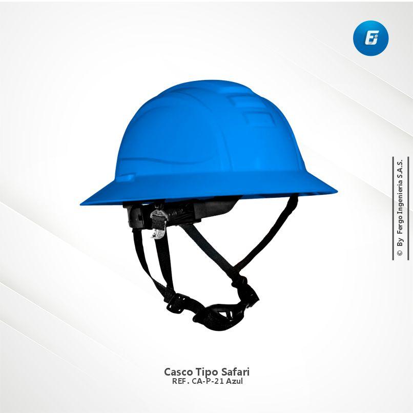 Casco Tipo Safari Ref.CA-P-D21 Azul