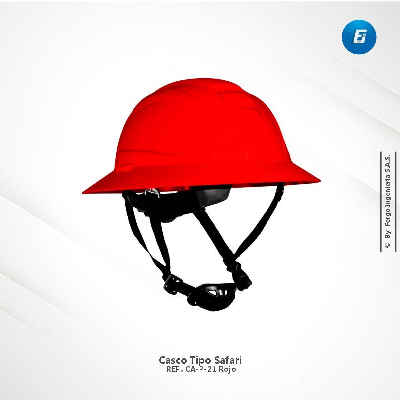 Casco Tipo Safari Ref. CA-P-D21 Rojo