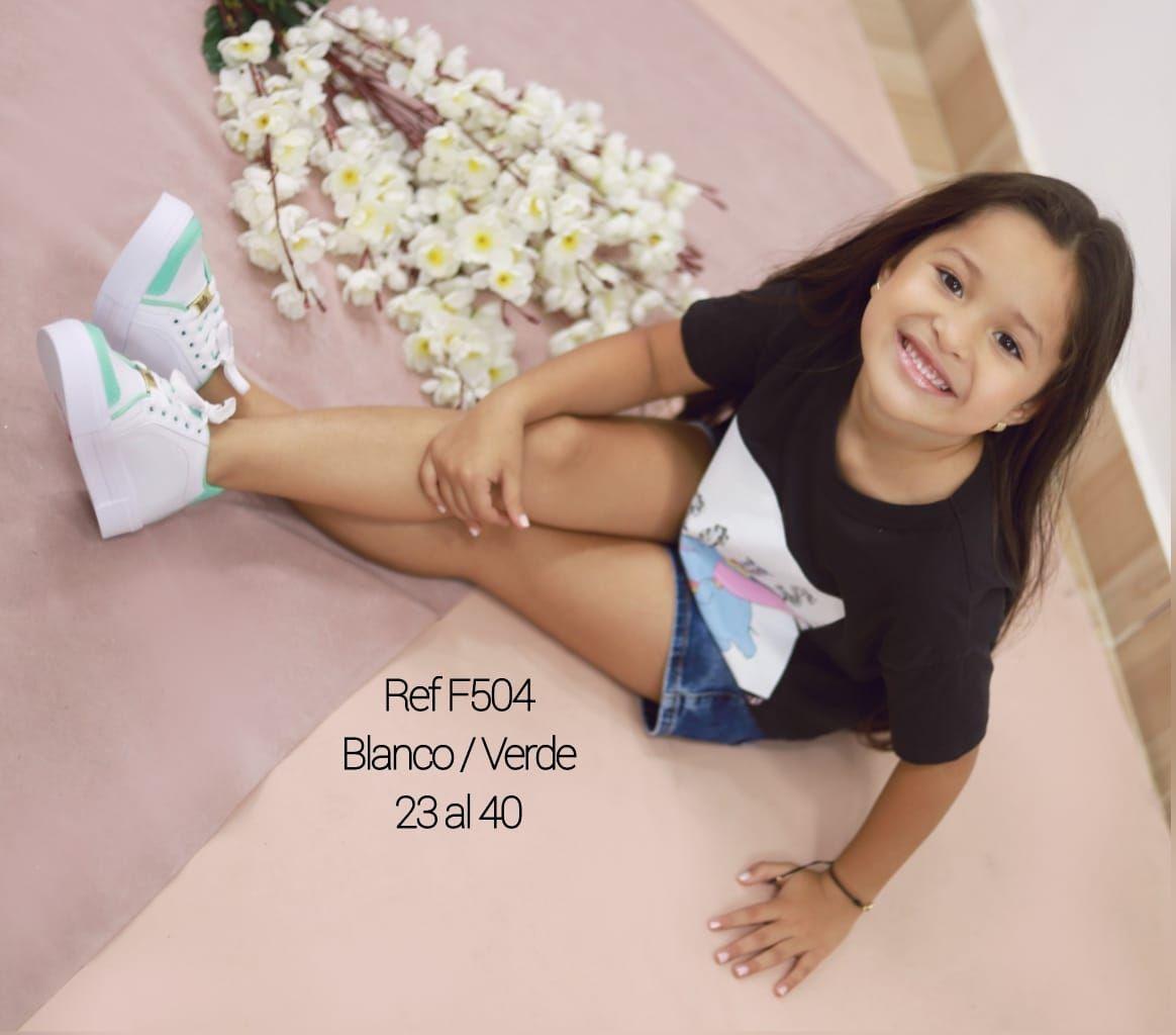 RefF-504 Blanco/verde 23 al 40