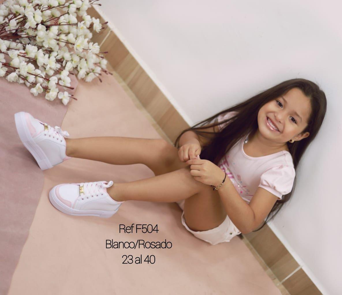RefF-504 Blanco/rosado 23 al 40