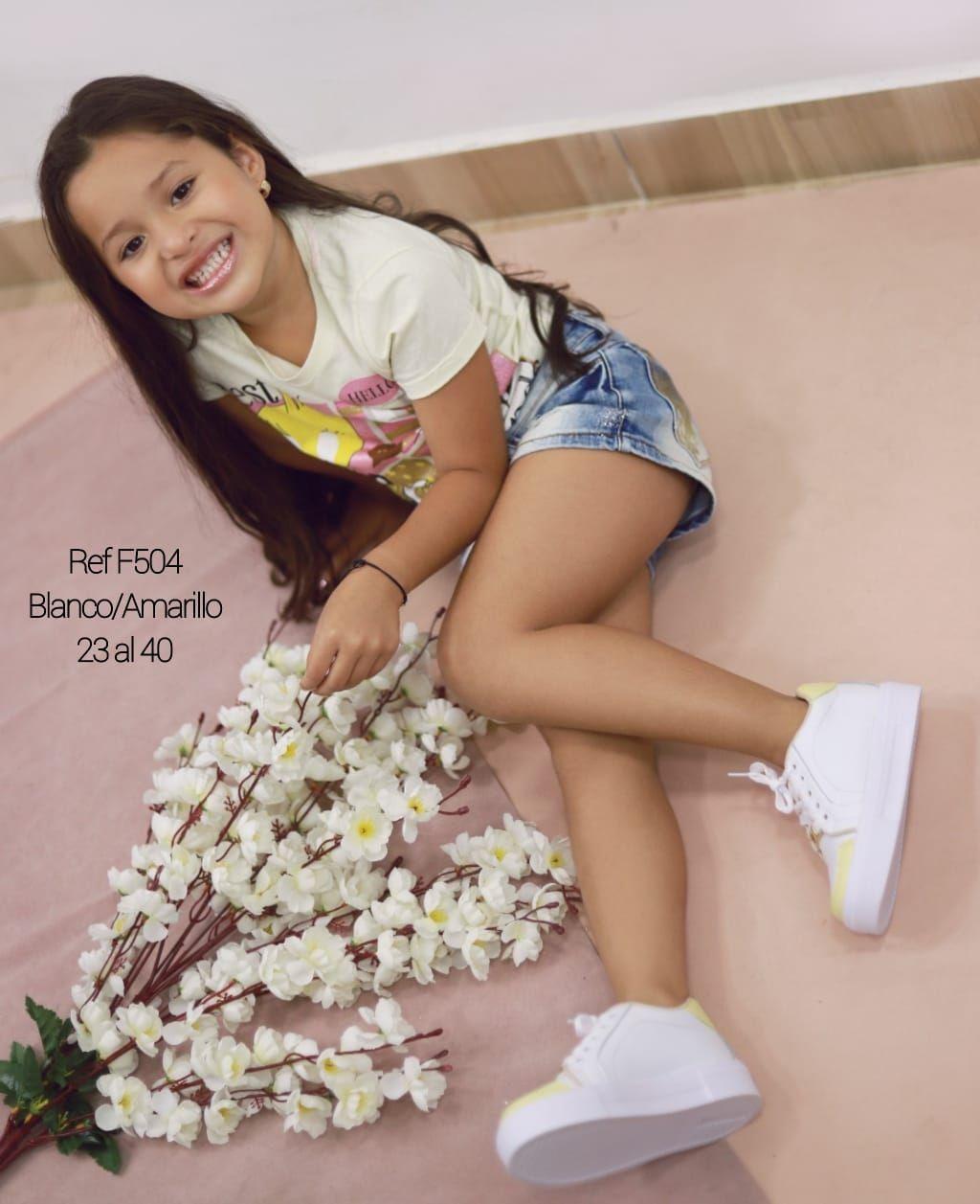 RefF-504 Blanco/Amarillo 23 al 40