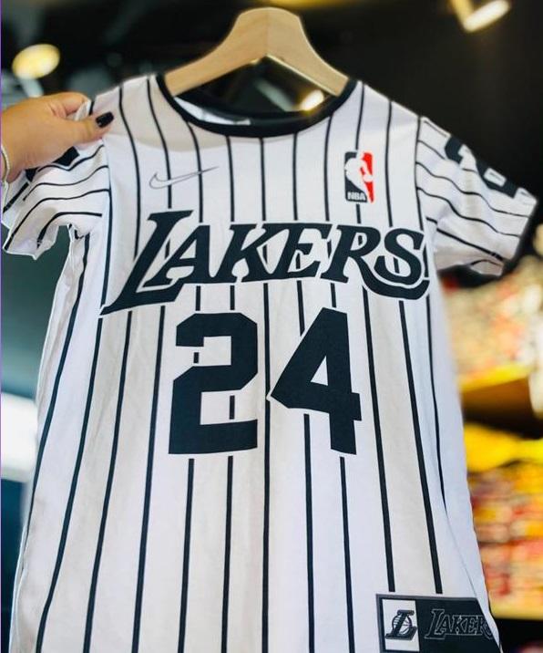 camiseta Lakers 24 blanca